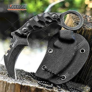 Tactical Knife Hunting Knife Survival Knife 4.25 Inch Karambit Knife Kydex Sheath G10 Handle Full Tang Fixed Blade Knife Camping Accessories Camping Gear Survival Kit Survival Gear Tactical Gear 78142
