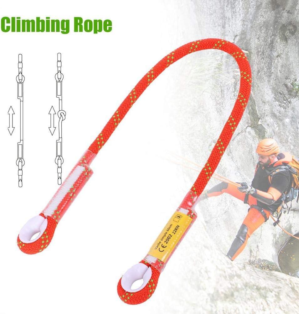 Alomejor Cuerda para Escalada en Roca Protecci/ón contra la ca/ída Lazo Cuerda de la Eslinga Equipo de Supervivencia al Aire Libre Cuerda de Seguridad para Escalar con Anillo