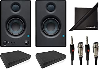 PreSonus Eris E3.5 BT Active Media Reference Monitors w/AxcessAbles Audio Cables, Speaker Isolation Foam Pads and eStudioS...