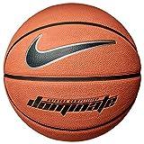 Nike Dominate 8 Panel Ballon de basketball, Ambre/noir, 7