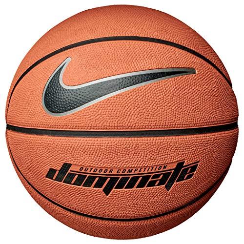 Nike Dominate 8 Panel Basketball (7, Amber/Black)