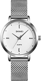 Simple Women's Watches Analog Quartz Watches for Women Fashion Casual Ladies Wrist Watch with Black Stainless Steel Mesh B...