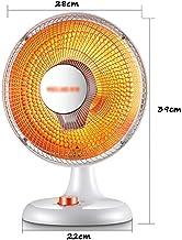 Estufa pequeña para Calentar con Calentador Solar pequeño, Calentador eléctrico para el hogar Que Ahorra energía, es Decir, Calor Abierto, Dos ajustes de Temperatura