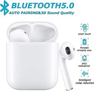 IPX5 Basse 3D st/ér/éo Sport Mic Casque 20H de Musique Kit Mains Libres pour Apple iphone//Android//Airpods ZP /Écouteurs Intra-Auriculaires sans Fils Oreillettes Bluetooth 5.0,/Étanche