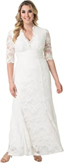 Women's Plus Size Amour Lace Wedding Gown
