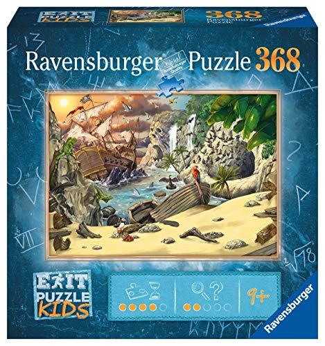 Ravensburger EXIT Puzzle Kids 12954 - Das Piratenabenteuer - 368 Teile Puzzle für Kinder ab 9 Jahren