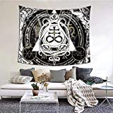 Leviathan Cross and Tentacles Satanic Tapestry Wall Blanket Blanket Tapestries Decoration Bedroom Decor Living Room by Printed (60''X 51inch'') Vintage Retro Style