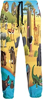 Cyloten Sweatpants African Sea Beach Animals Men's Trousers Cotton Baggy Sweatpants Novelty Pants for Daily