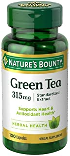 Nature's Bounty Green Tea Extract 315 mg Capsules 100 ea (Pack of 4)