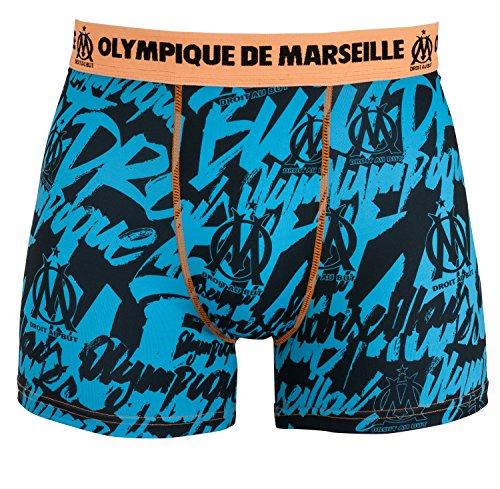 OLYMPIQUE DE MARSEILLE Boxer OM–offizielle Kollektion Größe Kinder Jungen für 4-Jährige blau