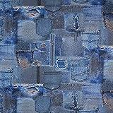 Fabulous Fabrics Dekostoff Ottoman Jeans – blau —