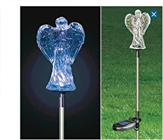 Trenton Gifts Solar Light Angel Garden Stake | Grave Decoration | Angel Outdoor Color Changing Light