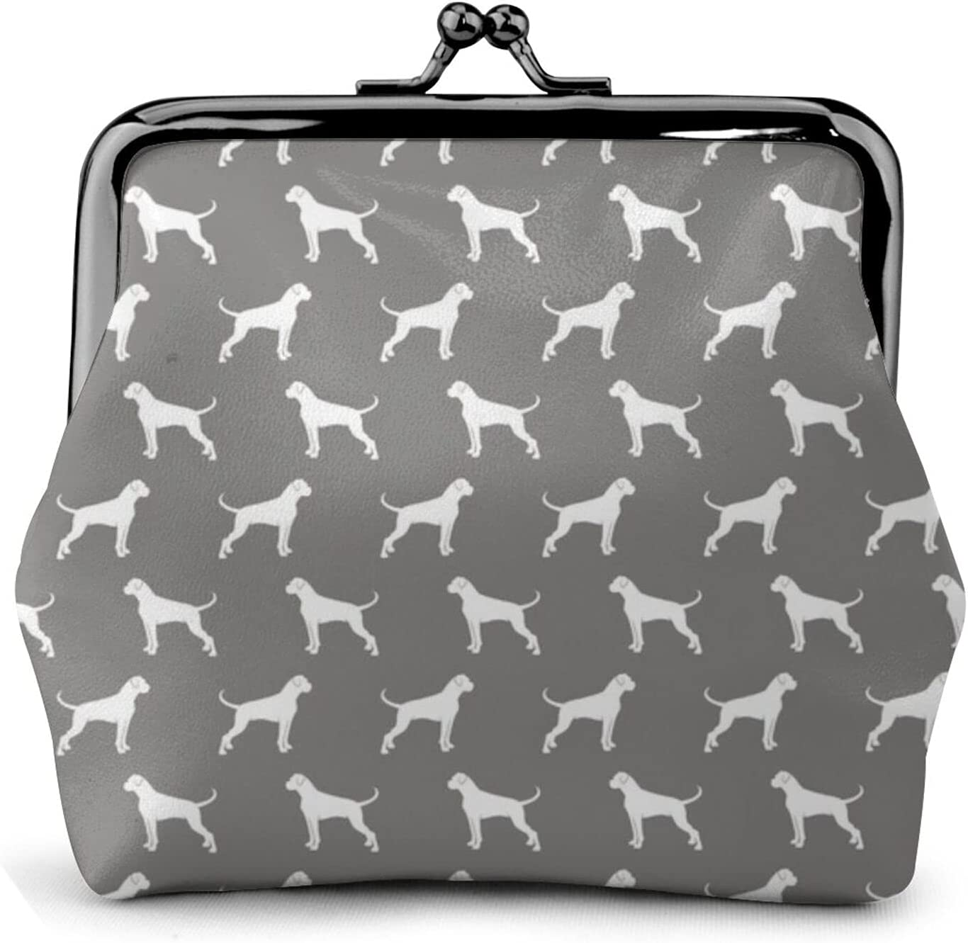 Boxer Dogs On 1175 Women'S Wallet Buckle Coin Purses Pouch Kiss-lock Change Travel Makeup Wallets, Black, One Size