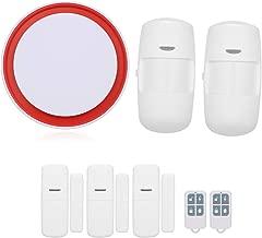 Sistema de alarma inal/ámbrico WiFi GSM 3G y GPRS Vanana Home Security Kit kit de tarjeta RFID con control remoto de aplicaci/ón