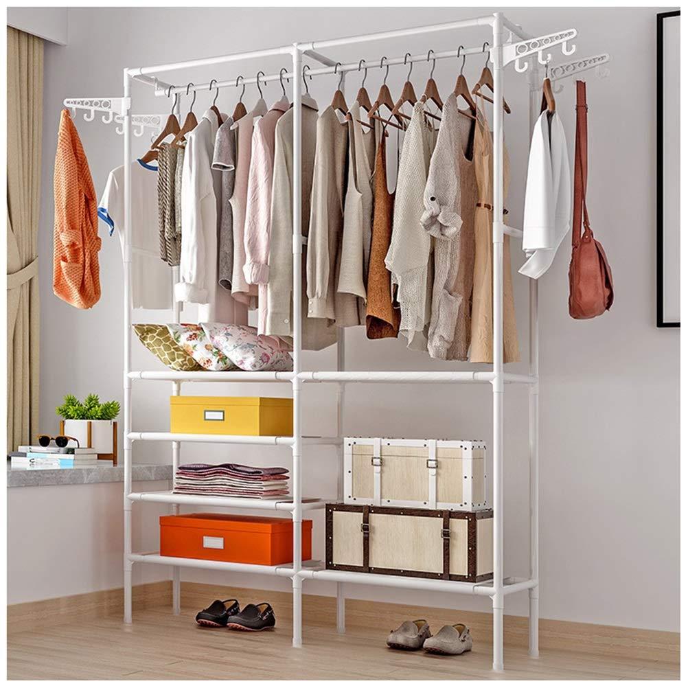 NIUZIMU Garderobenständer, Einfache Kleiderständer, Boden