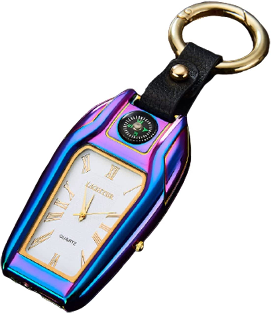 HOBEKOK Shipping included Bargain sale Electric Lighter Multi-Function Charging Cr USB Keychain
