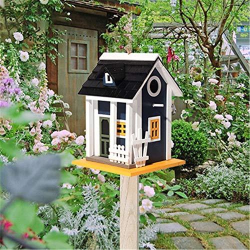Size #2 Homyl Nichoirs Oiseaux Maison en Bois Rustique Decor Jardin Cabane /à Oiseaux