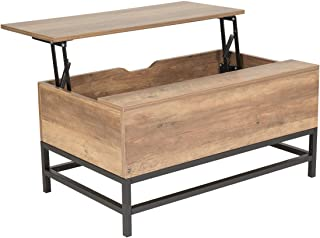 Wonderhome Table Basse en Bois Table Basse relevable Industrielle Table de Levage avec tiroir de Rangement pour Salon et B...
