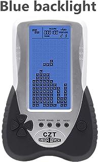 CZT New Big Screen Tetris Game Console Blue Backlight Support Plug Headphone Built-in 23 Games Classic Nostalgic Leisure P...