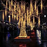 Meteor Lights, Pomelotree 20in 10 Tubes 540 Waterproof LED Meteor Shower Rain Cascading Lights for Wedding Christmas New Year Party Tree Decoration (Warm White)