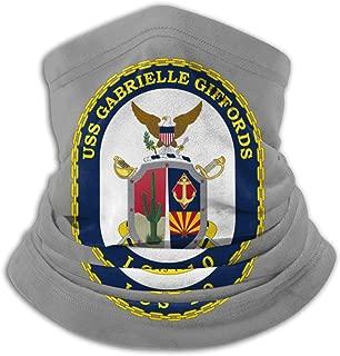 Army Emblem USS Gabrielle Giffords Neck Warmer Neck Gaiter Face Mask Black