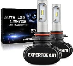 EXPERTBEAM 9005/HB3 LED Headlight Bulbs, High Beam, Conversion Kit, 8000Lm 6500K Cool White, 12x LED CSP Chip (3-Yr-Warranty)