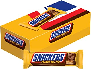 Snickers Peanut Butter Squared Singles Size Chocolate Candy Bars 1.78-Ounce Bar 18-Count Box, multi