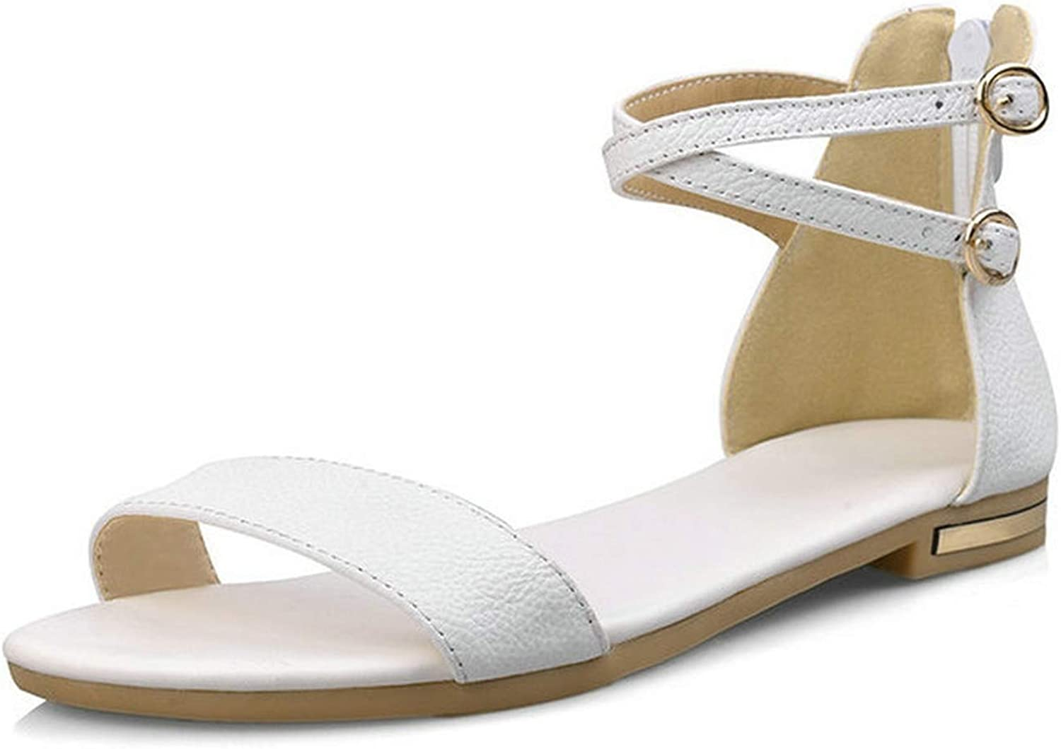 Women Sandals Western Style Pu Leather Cover Heel Women shoes,