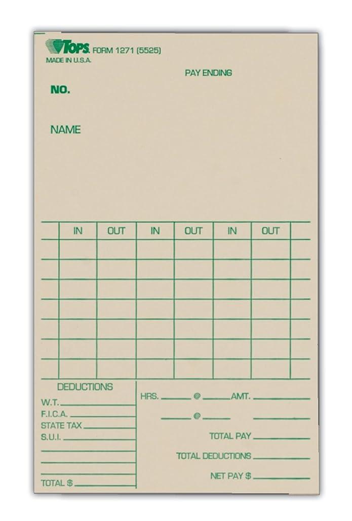 寝具酸化するぴったりトップス時間カード、週単位、1-sided、3?–?3?/ 8?