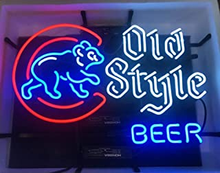 Desung New 24x20 Chicago Sports League Cub Win Walking Cubby Neon Sign Man Cave Bar Pub Beer Handmade Neon Light EX52 Multiple Sizes Available
