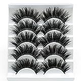 5 Pairs Faux 3D Mink Lashes Multipack,False Eyelashes Natural Soft False Eyelashes Pack for Makeup Eyelashes Extension(3D01)