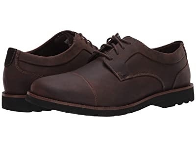 Rockport Sharp and Ready 2 Cap Toe (Dark Brown) Men
