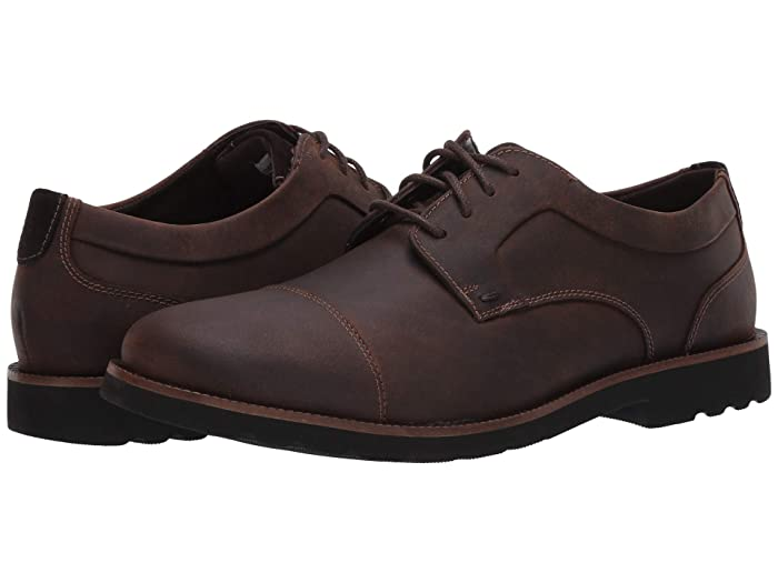 Rockport  Sharp and Ready 2 Cap Toe (Dark Brown) Mens Shoes
