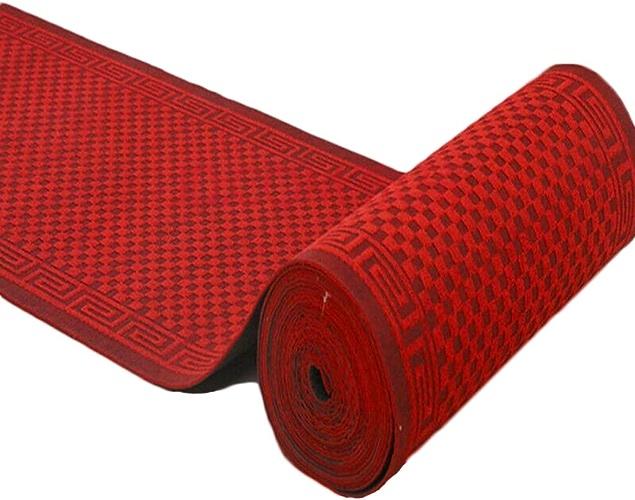 LYQZ Tapis Composés Carré Couloir Tapis Escaliers Tapis Long Paragraphe Absorption Douce Antidérapante Absorption d'eau Douce Personnalisé (Couleur   Rouge, Taille   90  150cm)