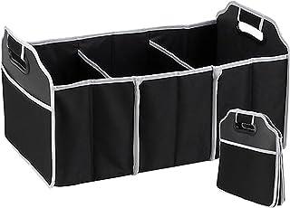 Organizer do bagażnika duża torba do przechowywania w bagażniku samochodowym czarny organizer do bagażnika samochodu ze sk...