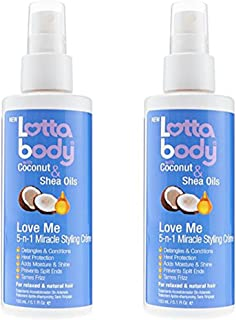 Pack of 2 5.1 oz Lotta Body Love Me 5 N 1 Miracle Creme Bundled by Maven Gifts