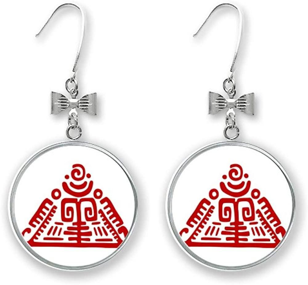 Limited Special Price Totems Mexican Pyramid Ancient Ranking TOP11 Civilization St Bow Earrings Drop