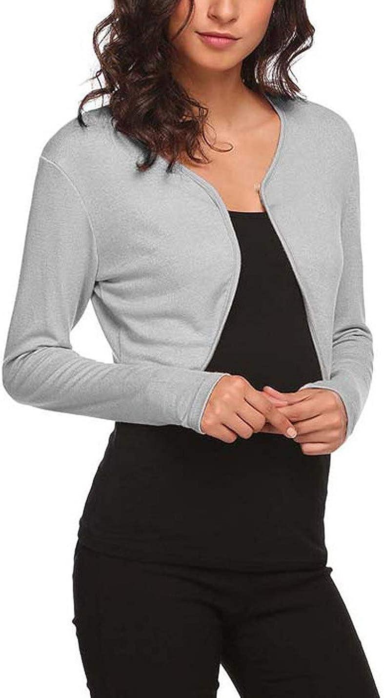 Omoone Women's Cropped Chiffon Bolero Shrug Cardigan Slim Short Mesh Jacket Top
