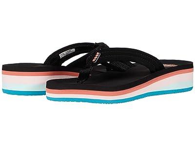 Reef Kids Ahi Wedge (Toddler/Little Kid/Big Kid) (Rainbow) Girls Shoes