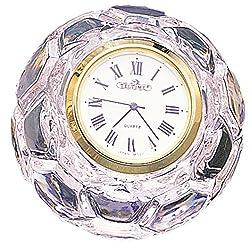Office Desk Table Lead Crystal Clock (2 1/4H X 1 1/2W Soccer)