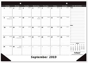 Nekmit 2019-2020 Monthly Desk Pad Calendar, September 2019 - December 2020, 16-3/4 x 11-4/5 Inches, Black