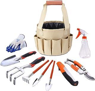 Sponsored Ad – TINRIEF Garden Tools Set, 10PCS Gardening Tools Include Durable Steel Trowel Set, Large Garden Tote Bag, Ga...