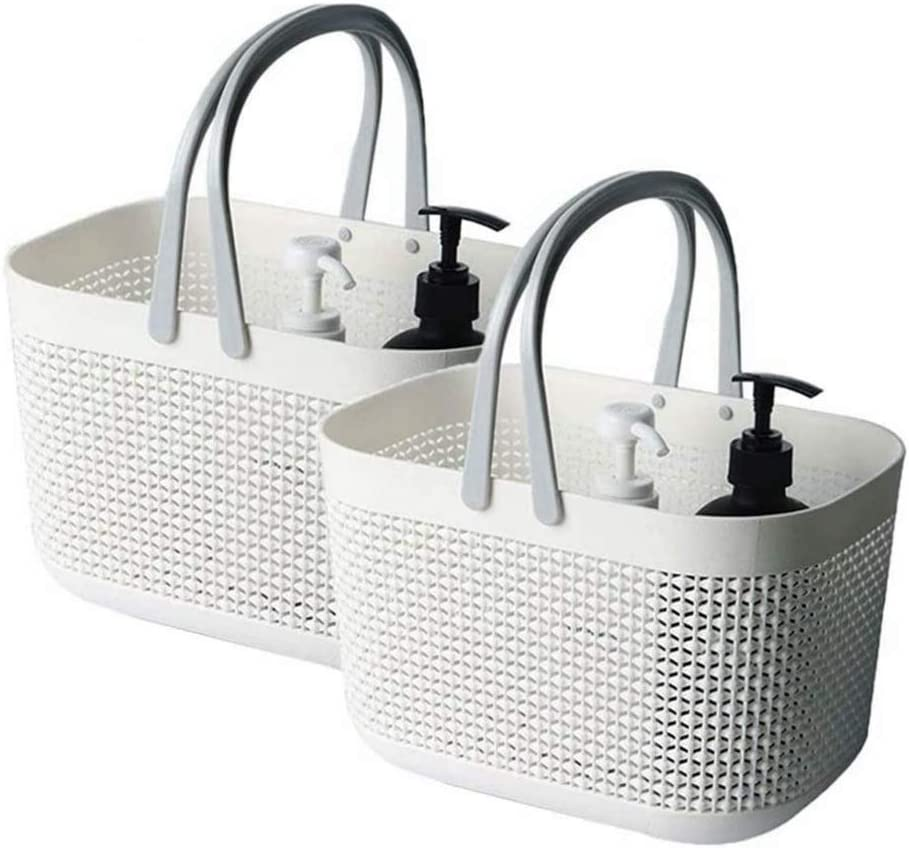 FEOOWV Plastic Bathroom Storage Basket with SEAL limited product for Storing Handle Max 56% OFF