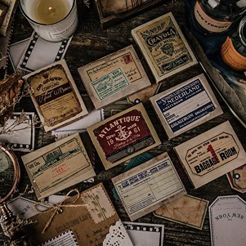 PMSMT 50 unids/Lote Pegatinas de papelería Kawaii Etiqueta Antigua DIY artesanía álbum de Recortes Diario Basura planificador Feliz Pegatinas de Diario