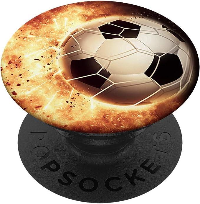 Fußball Design Für Jungen Mädchen Männer Popsockets Popgrip Ausziehbarer Sockel Und Griff Für Handys Tablets Mit Tauschbarem Top Elektronik