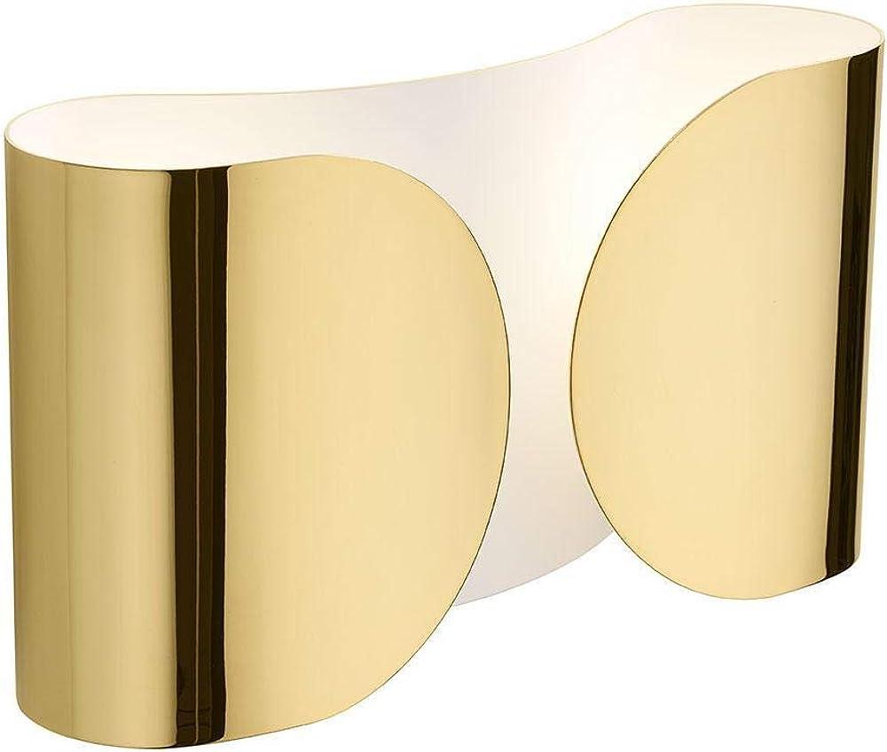 Flos, lampada da parete, foglio oro 22k,in acciaio colore oro F2400044