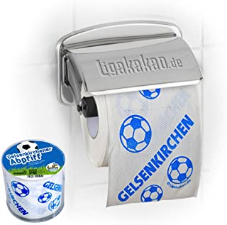 Klopapier Schalker Abpfiff 1 Rolle | Dieses Toilettenpapier Macht das Klo von Dortmund-, Bayern- & Fußball-Fans zur Schalke-Kultschüssel | Geschenkidee für Männer & Freunde
