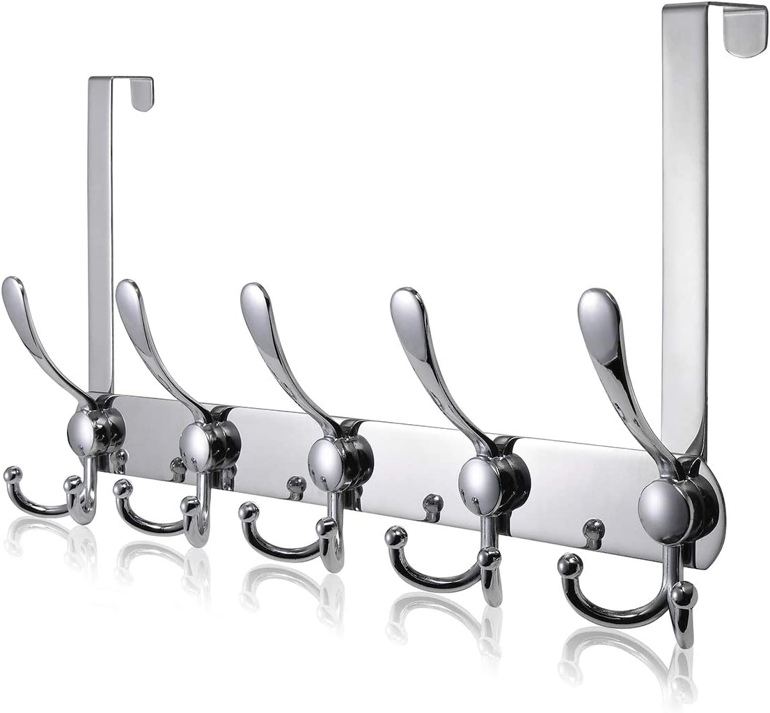 Over The Door Hook TEKI 55% National uniform free shipping OFF 5 Stainless Hooks Do Steel Tri