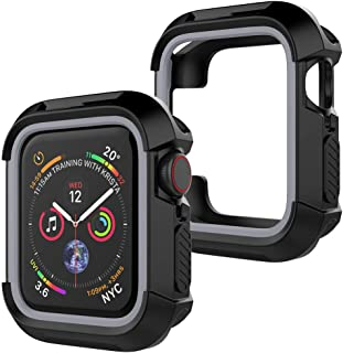 UooMoo Compatible with Apple Watch 4/5 case 44mm, TPU Shockproof Rugged Full-Protective Bumper Cover for iWatch Apple Watc...