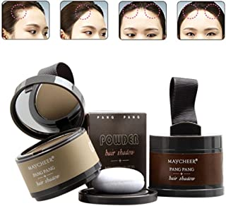 Hanyia Hairline powder Hair Line Modified Shadow Powder Hair Color with Mirror & Puff Hairline Contour